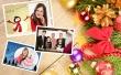 Karácsonyi üdvözlőkártya fekvő